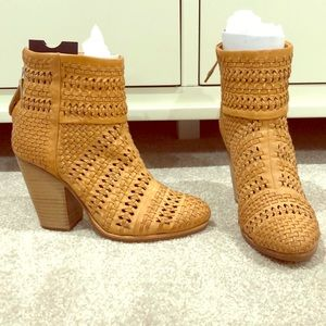 🍰Sale! Rag & Bone brown leather woven ankle boots